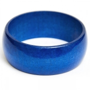 Blue Wooden Bangle