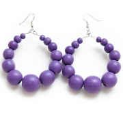 "Earrings ""Violet Beads"""
