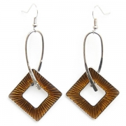 "Earrings ""Amber Diamond"""