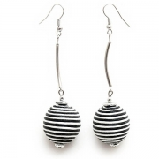"Earrings ""Striped Circles"""