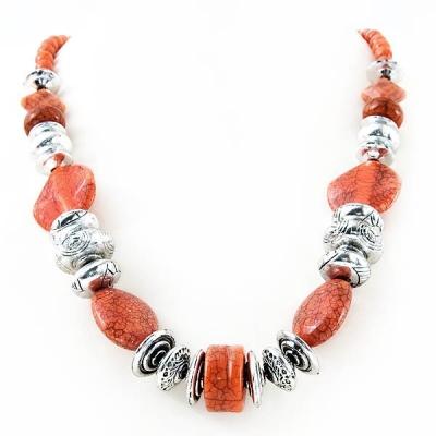 """Necklace """"Orange Mosaic"""""""