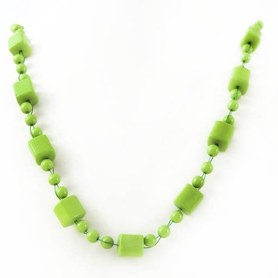 """Necklace """"Green Cubes"""""""