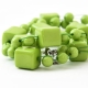 """Naszyjnik """"Green Cubes"""""""