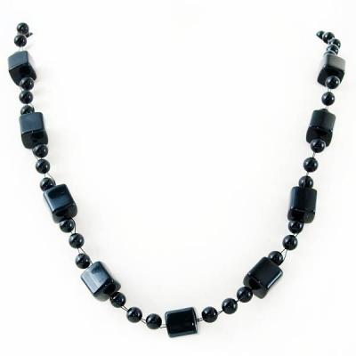"""Necklace """"Black Cubes"""""""