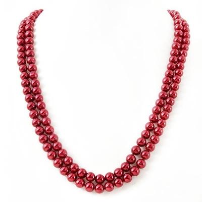 "Naszyjnik ""Classic Red Pearls"""