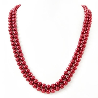 """Necklace """"Classic Red Pearls"""""""