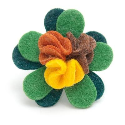 """Pierścionek """"Filcowy Kwiat"""""""