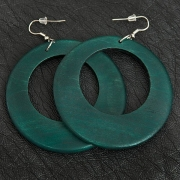 Green Wooden Earrings
