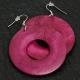 Pink Wooden Earrings