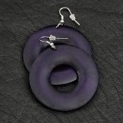 Violet Wooden Earrings