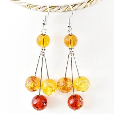 "Kolczyki ""Amber Beads"""