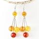"Earrings ""Amber Beads"""
