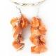 "Earrings ""Orange Stones"""