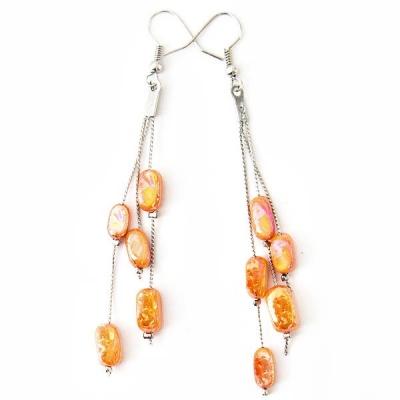 """Earrings """"Orange Tears"""""""
