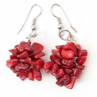 """Earrings """"Red Stones"""""""