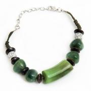 "Bangle ""Green Beads"""