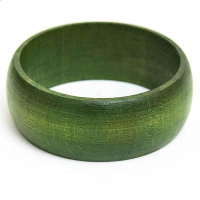 Zielona Drewniana Bransoletka