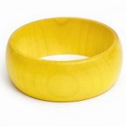 Żółta Drewniana Bransoletka