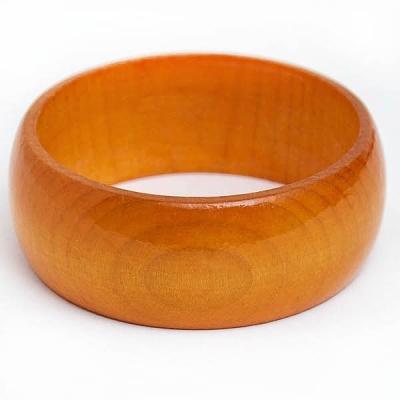 Pomarańczowa Drewniana Bransoletka