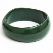 Ciemno Zielona Plastikowa Bransoletka