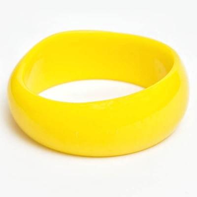 Żółta Plastikowa Bransoletka