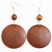Brown Wooden Earrings