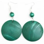 Turquoise Wooden Earrings