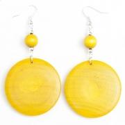 Yellow Wooden Earrings