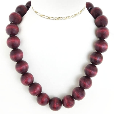 """Necklace """"Deep Red Beads"""""""