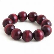 "Bangle ""Deep Red Beads"""