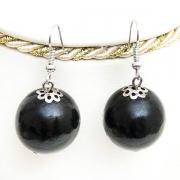 Black Wooden Earrings
