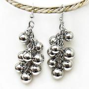 "Metal Earrings ""Grape"""