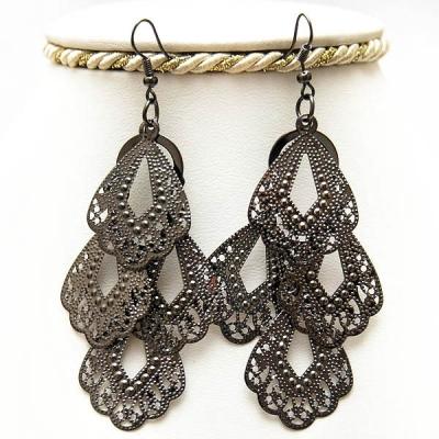 "Metal Earrings ""Diamonds"""