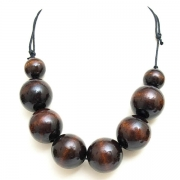 """Necklace """"Brown Beads"""""""