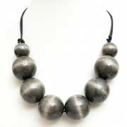 """Necklace """"Grey Beads"""""""