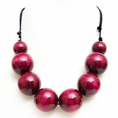 """Necklace """"Maroon Beads"""""""