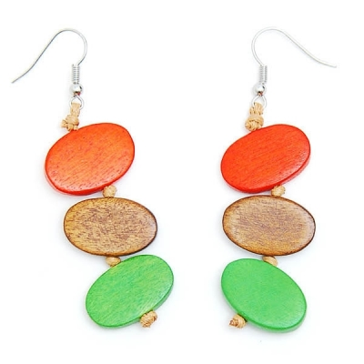 "Earrings ""Three Colours"""