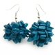"Earrings ""Blue Squares"""