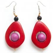 "Earrings ""Red Tears"""