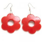 "Earrings ""Red Flower"""