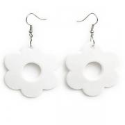 """Earrings """"White Flower"""""""