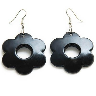 "Earrings ""Black Flower"""