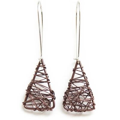 """Earrings """"Brown Triangles"""""""