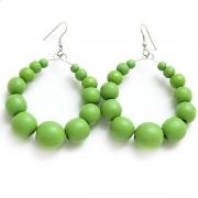 """Earrings """"Green Beads"""""""