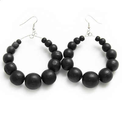 """Earrings """"Black Beads"""""""