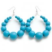 "Earrings ""Blue Beads"""