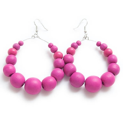 """Earrings """"Pink Beads"""""""