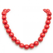 Red necklace and bracelet