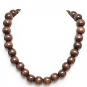 Brown necklace and bracelet