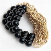 "Bracelet ""Black & Gold"""